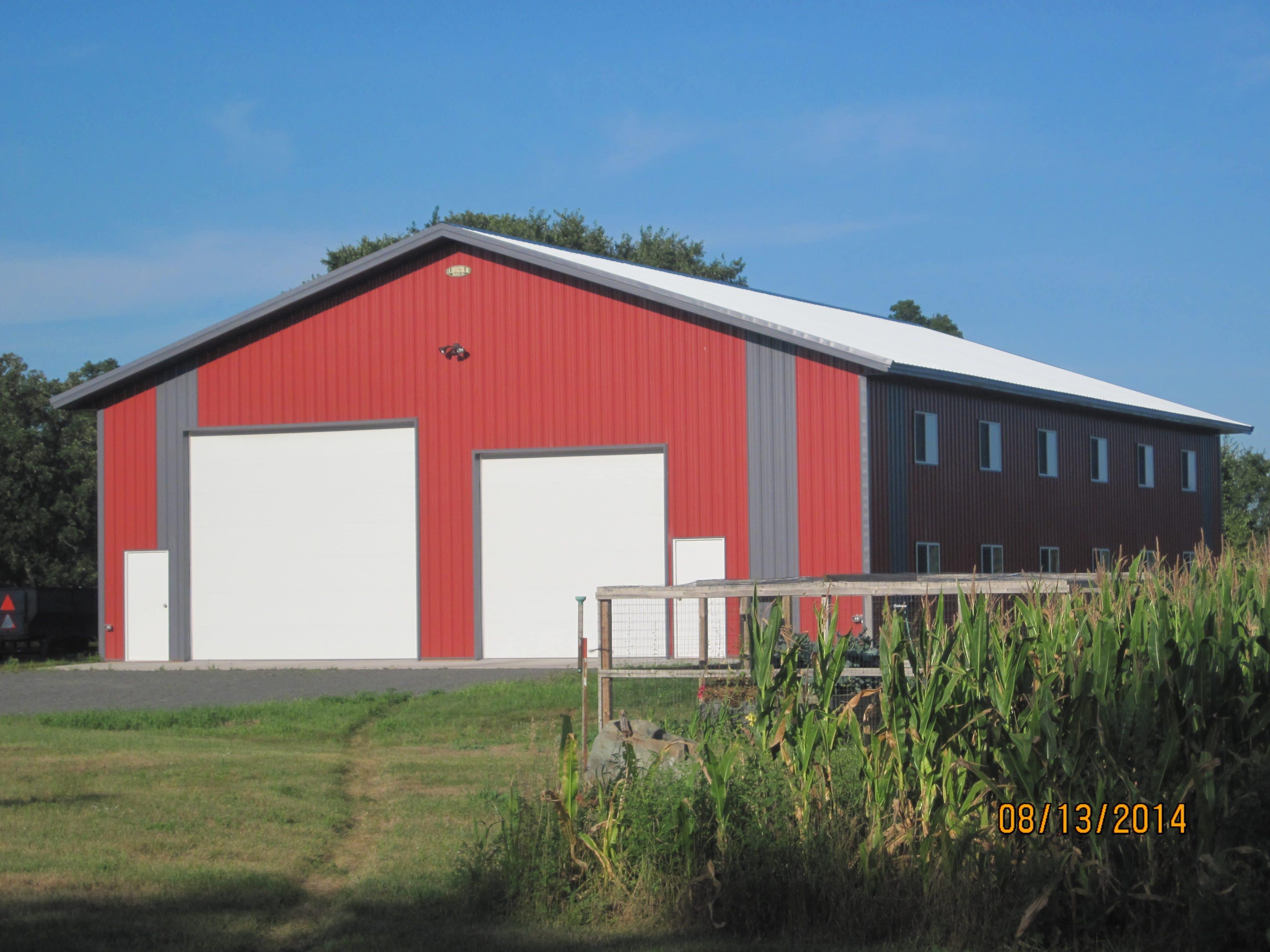 Cement Pole Barn Post : Our services f b contractors inc the pole barn